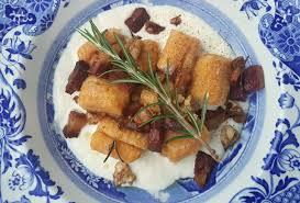 Pumpkin Gnocchi Recipe by Pumpkin Gnocchi With Speck Walnuts And Parmesan Cream