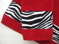 Zebra Print Bathroom Decor by Red And Black Zebra Bath Towels Bathroom Towels Bath By Augustave