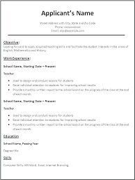 Proper Resume Examples Teacher Formats Example Of Format For Job Writing Instruments Free