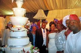 BEAUTIFUL WEDDING CAKES OF SOME NIGERIAN CELEBRITIES