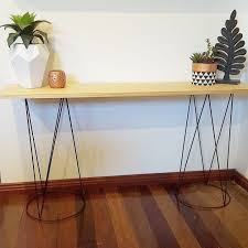 DIY Hall Table Using Kmart Plant Stands Sprayed Black