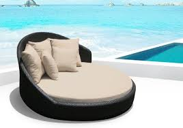Amazon Outdoor Patio Wicker Furniture Pool Lounge All Weather Garden Round Double Bed Set Tan And Sets