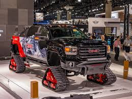 2018 GMC Sierra 2500HD All Mountain Concept Treks To L.A. | Kelley ... 4x4 Tracks For 4runners Fj Cruisers More Rubber Snow Adventure Sport Rentals 5092410232 Atv Track Over The Tire Right Systems Int Jeeprubiconwnglerlarolitedsptsnowtracksdominator John Deere Gators Get On Track American Truck Announces That South Dakota Police Department Farm Show Magazine Best Stories About Madeitmyself Shop Fifteen Cars Ditched Tires Autotraderca Mattracks Cversions Gmc Unveils Sierra 2500hd All Mountain A Denali With Tracks Custom You Can Buy The Snocat Dodge Ram From Diesel Brothers