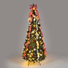 6ft Pre Lit Pop Up Christmas Tree by 6ft Luxury Pre Lit Spruce Tree Christmas Gifts