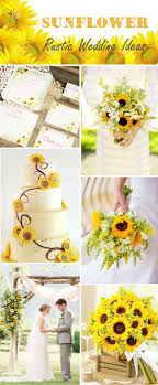 Sunflower Rustic Wedding Ideas And Laser Cut Invitations