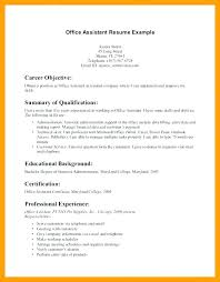 Resume Objective Examples Entry Level Best Of For Medical Dental Assistant Good Receptionist