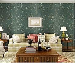 xzzj antiken dunklen grün vlies tapete schlafzimmer tv wand