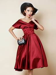 red off shoulder wrap front plain homecoming dress choies