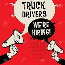 100 Hiring Truck Drivers Megaphone Hands Business Concept With Text Were
