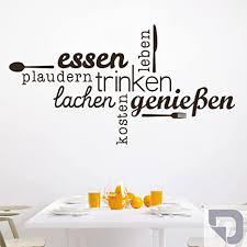 designscape wandtattoo essen trinken genießen wandtattoo küche esszimmer 100 x 54 cm breite x höhe silber dw803463 m f25