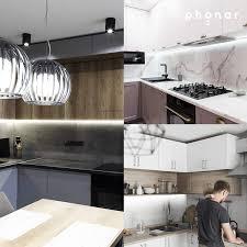 phonar led unterbauleuchte küche 30cm küchenunterbauleuchte in warmweiss i einfache montage i inklusive zubehör i 4000k warmweiß