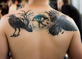 Trunk Tattoo Color Black Arm Gothic Chest Human Body Back Eye Skin Pain Dig Sting Painful
