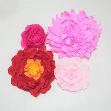 Giant Crepe Paper Flowers For Wedding Event Backdrop Decor Aritificial Handmade Baby Nursery Shower Novelties Business Gifts