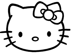 Face Of Hello Kitty Coloring Pages Free Printable