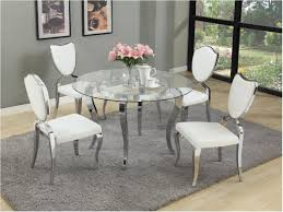 Extraordinary Dining Room Furniture Glass Round Kitchen Table Decor Looking For Dazzling Image