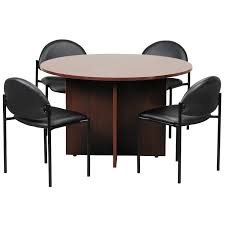 Shop Boss 47-inch Round Conference Table - Free Shipping Today ... Basic Conference Room Stock Photos Products Bos 3101832 Business Cable Chairs Four Meeting Room Alvar Aalto A Table And Four Chairs Model 69 Artek Mid1900s Table With Vintage Stickley Keyhole Trestle And Four Side Chairs Set Of And Office On Concrete Floor 3d Tables Herman Miller Marquis 3x6 Anso Fniture 48 Point Eight Steelcase Kee Square Breakroom Cherry Black 4 M Stack
