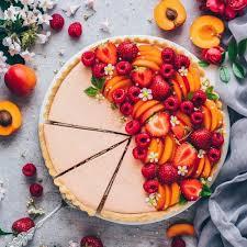 obst creme tart einfache torte ohne backen mit keksboden