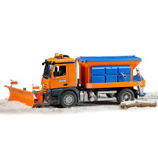 100 Truck With Snow Plow Bruder Toy MB Arocs Winter Service With