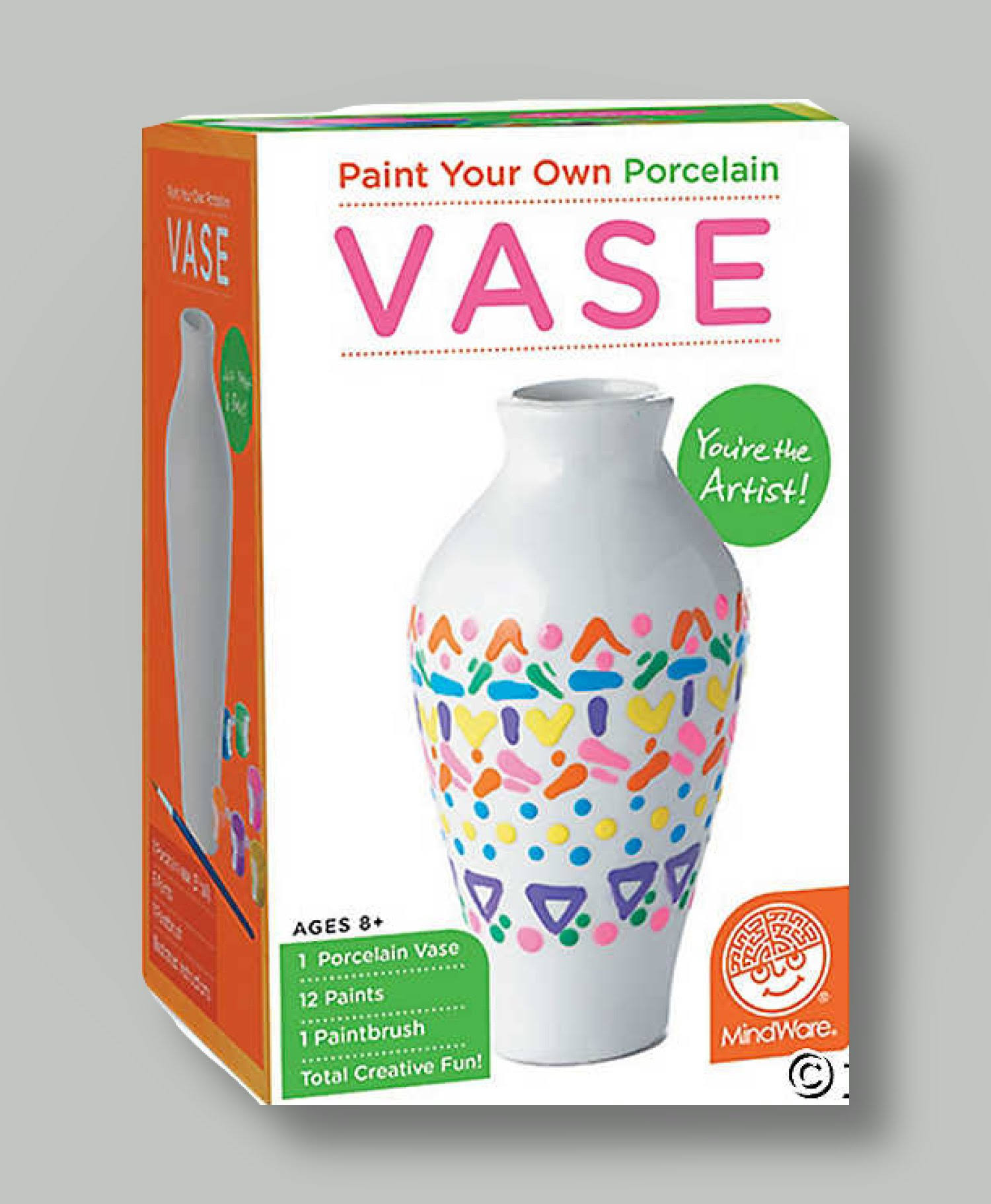 MindWare Paint Your Own Porcelain Vase