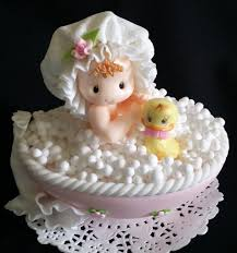 Baby on Bathtub Cake Topper Baby Shower Cake Topper Baby with