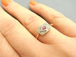 deco ruby and ring deco 18ct gold ruby and ring 220259