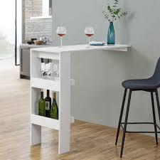 en casa bartisch bromölla bartresen stehtisch theke mit ablagefach und stauraum 120x45x106cm weiß