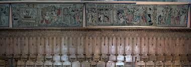 abbaye de la chaise dieu file abbaye robert de la chaise dieu stalles et tentures sud