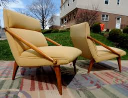 Webbed Lawn Chairs With Wooden Arms by Mid Century Modern Vintage Furniture Danish Sofa Credenza Tables