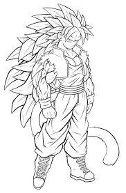 Imágenes De Goku Y Sus Transformaciones Para Colorear Colorear