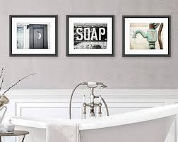 Rustic Bathroom Wall Decor Art Set Of 3 Prints Or Canvas