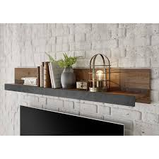 industrial design wandregal wandboard berlin 61 in mix dekor mit matera grau b h t ca 153 23 18 cm