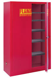 Edsal Metal Storage Cabinets by Sandusky Lee Pc40 Red Steel Counter Height Paint And Ink Storage