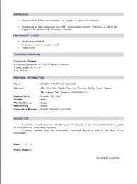 Mba Resume Sample Format Download Pdf Samples For Freshers Finance