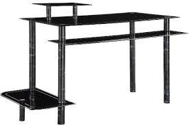 Tempered Glass Computer Desk by Innovex Dp1032gbm Computer Desk Black Marble Ergonomic Design