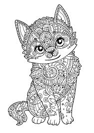 Animal Coloring Pages For Adults 4 I Cat Justcolor Rh Net Kawii Dog Cute Kawaii Food