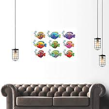 painting fish collage print poster