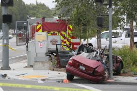 Driver In Fatal Crash With Fire Truck Arrested - The San Diego ... Who Will Drive The For Driverless Fire Trucks Ambulance And Fire Truck Accident Royaltyfree Video Stock Tesla Model S Reportedly On Autopilot Crashes Into At Video Crashed I84 15 Hospitalized After 2 Engines Crash In Monterey Park Ktla With Tx Apparatus Leaves One Serious Firehouse Team Of Firefighters By Firetruck On Accident Location Stock Brenham Firetruck Involved In Accident While On Way To Fire Call Ambulance Crash Miami Bomberos Accidentes Two Hurt Vehicle Later Catches Cedar Springs
