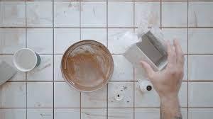 mixing tile adhesive or cement with power drill tool stock