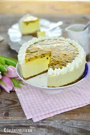 sommer auf dem kuchenteller maracuja buttermilch cheesecake