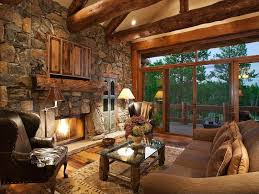 Rustic Living Room With Transom Window Exposed Beam Resawn Barn Beams High Ceiling