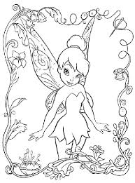 The Kids Will Love This Cute Disney Tinkerbell Coloring Page