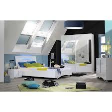 chambre a coucher blanc laqué chambre à coucher avec lit 180x200 cm coloris blanc laqué