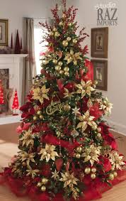 Decorating Christmas Trees With Mesh Ribbons Fancy 25 Traditional Red And Green Decor Ideas