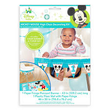 Mickey Mouse 1st Birthday High Chair Decorating Kit | ShopDisney Office Chair Protective Floor Mats For Chairs Unique 50 Decoration Mat Wood And Snap Together J Is For Baby High Protector Clear Plastic Toddler Riviera Side Natulriviera Natural Pink 1st Birthday Kit Kids Party Supplies At Cheap Covers Find Deals On Amazoncom Youngcol Splat Reusable Bumbo Seat Tray Booster Seats Bear Kingdom Disposable Modern Shop Accmor By Accmor