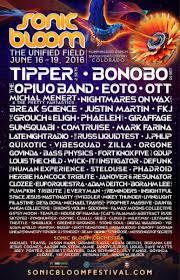 Sonic Bloom Festival Poster 2016
