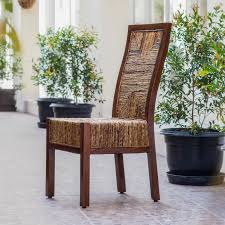 Rooms White Cane Back Fabric Small Furniture Woven Chair Long Lasting Mahogany Hardwood Frame Natural Leaf Finish Wood Stain Sturdy And Durable