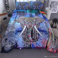 Home Textils India Colorful 3d Elephant Bedding Set Mandala Duvet