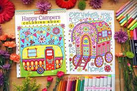 Gypsy Caravan Coloring Page From Thaneeya McArdles Happy Campers Book Amazon Design Originals Dp 15