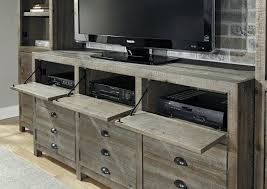 Tv Media Stand 60 Entertainment Center Console Table Wood Cabinet