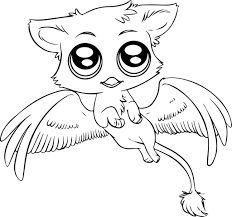 Bat Kawaii Coloring Pages